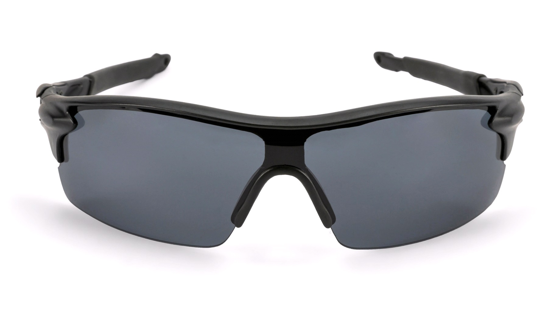 Sportsbrille helglas mat sort mgrå glas Briller thansen.dk