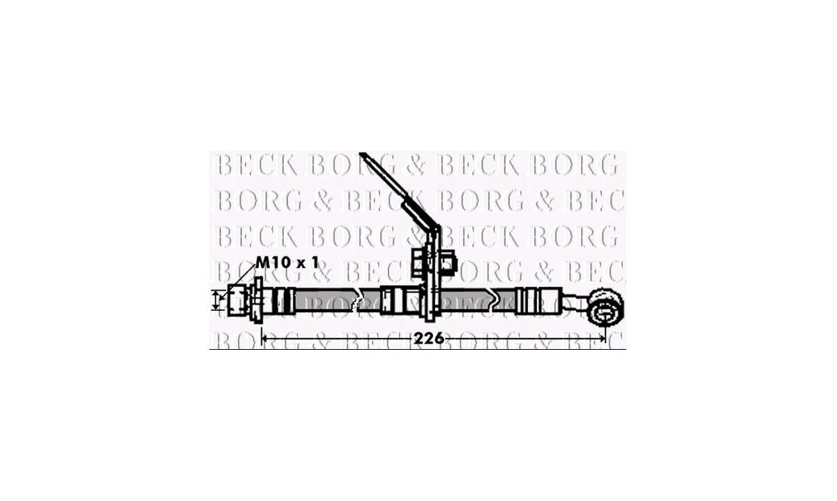 Bremseslange - (Borg & Beck)