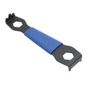 Værktøj for modhold til klingebolt