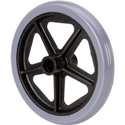 Forhjul til aluminiums rollator