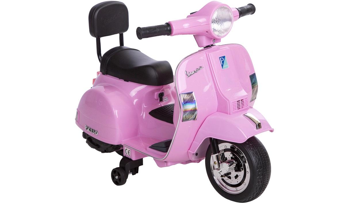 El-scooter til børn 6V Vespa Pink