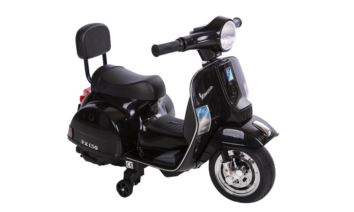 El-scooter til børn 6V Vespa Sort