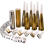 Bordpynt sortiment 14 dele i guld/sølv