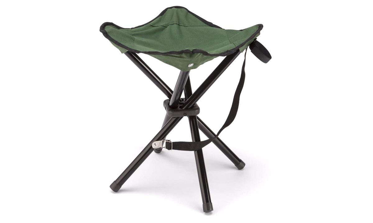 Campingtaburet, 4-ben, grøn/sort