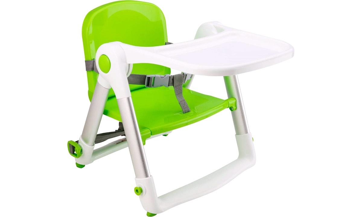 Barnestol med aftagelig bakke, quickfix og nem fastspænding.