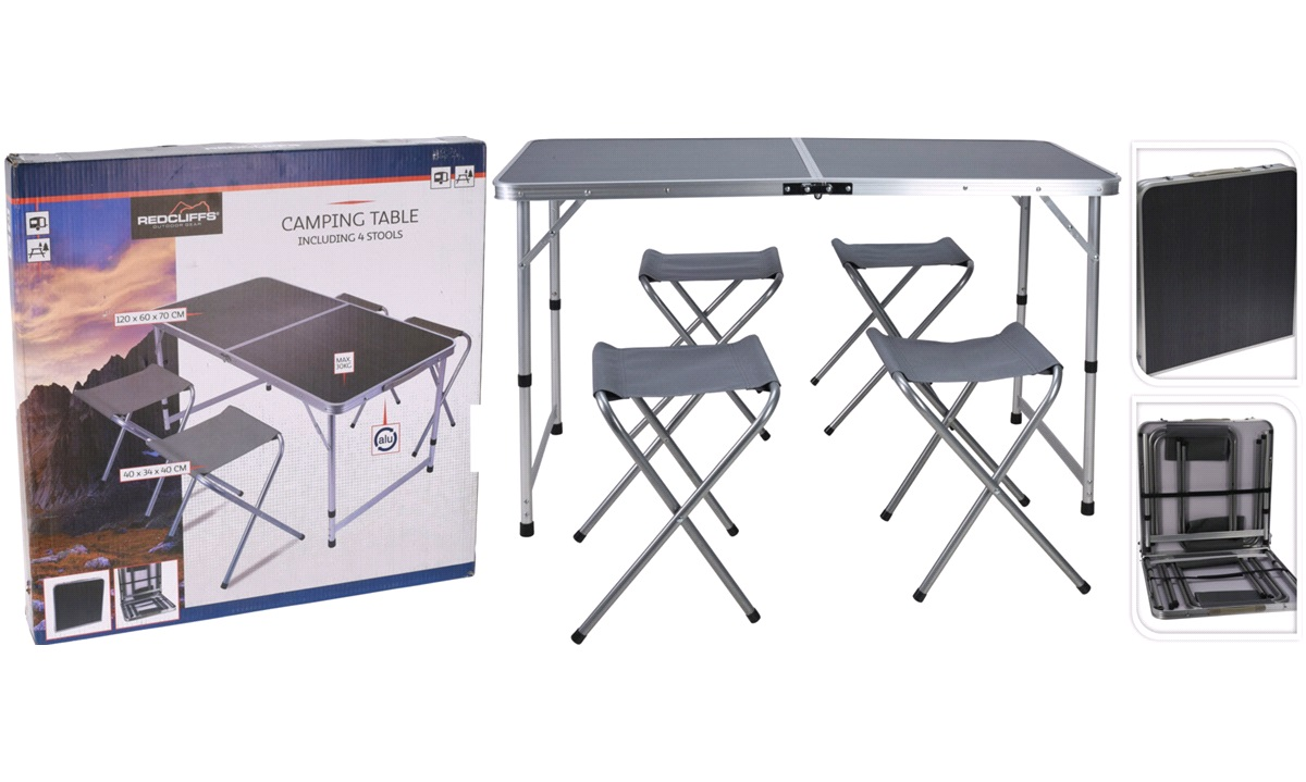 Spisebord/Taburet,Sammenfold.120x60x70cm
