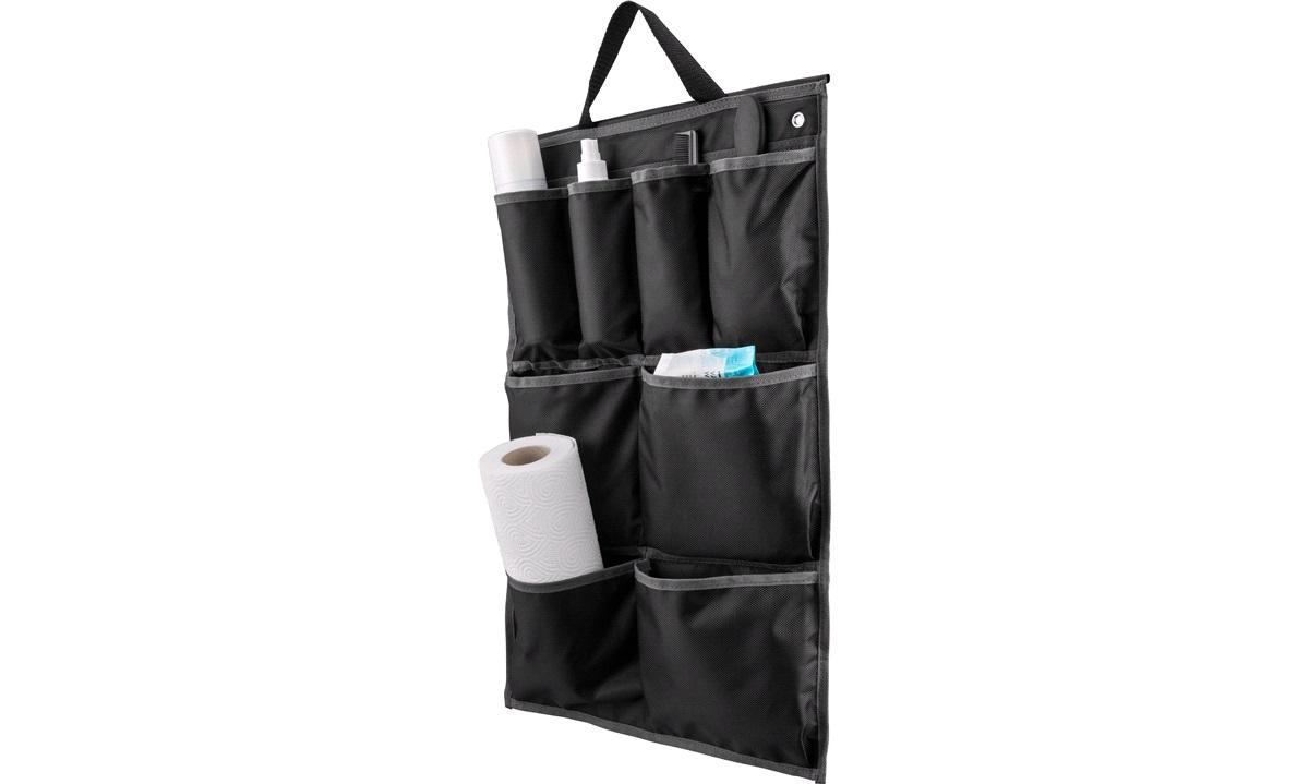 Organiser m. 8 lommer, 59x39cm, sort/grå