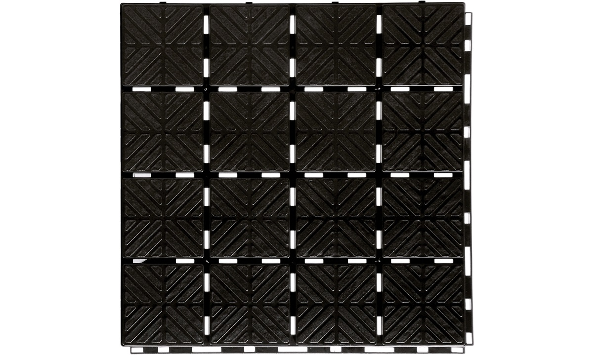 Gulvflise 1,5 kvm klik-gulv i sort PP