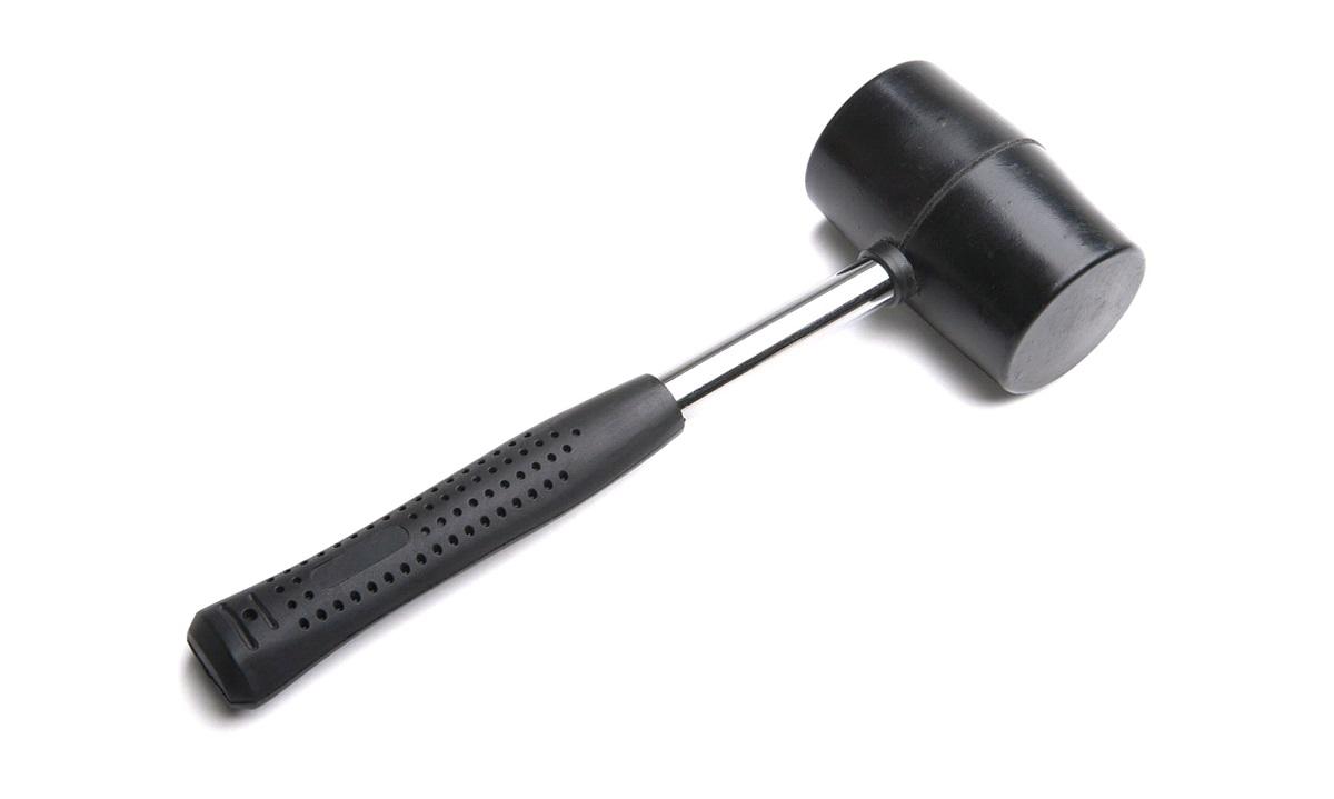 Pløkhammer gummi med stålskaft