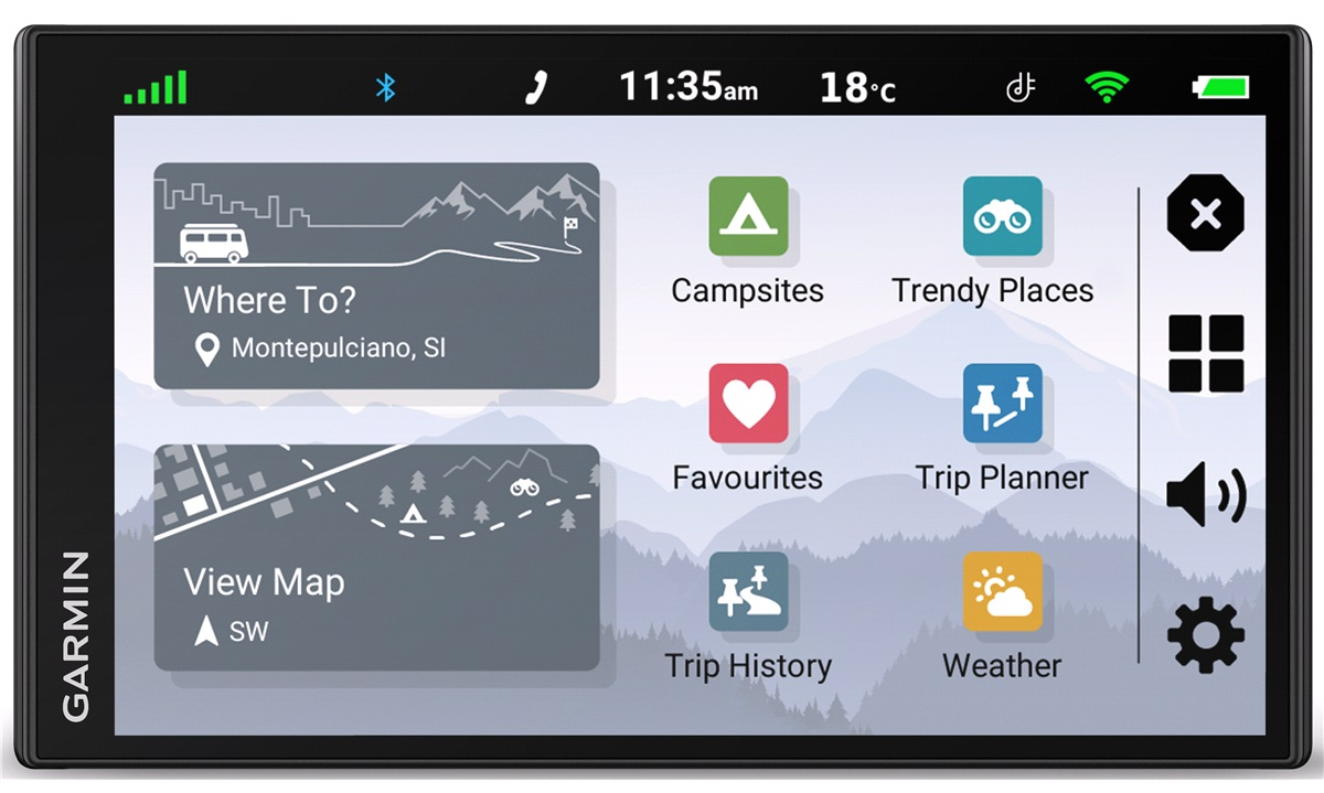 Navigation Garmin Campervan