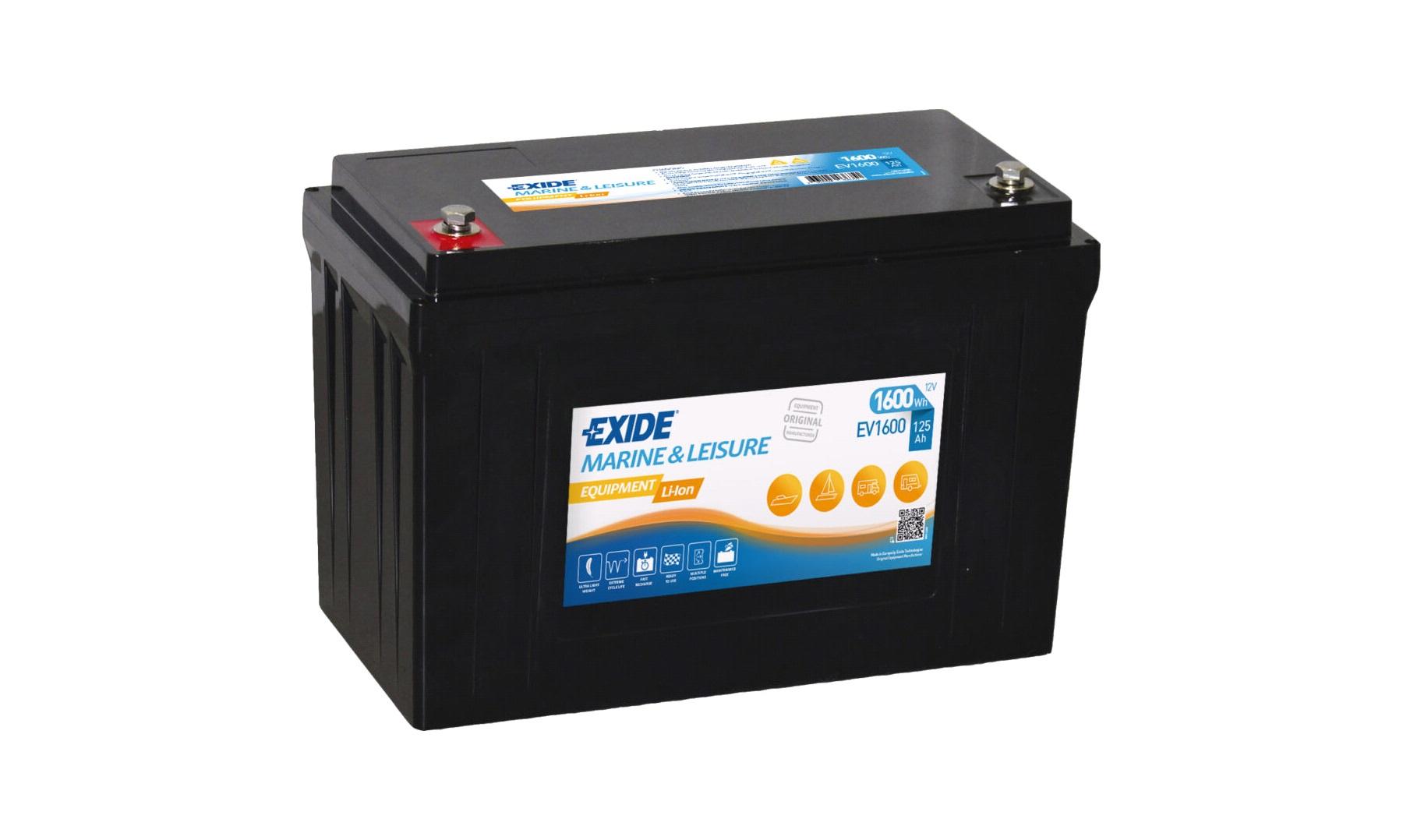Exide EP1200 Dual AGM 140 AH 12V Bilbatterier thansen.no