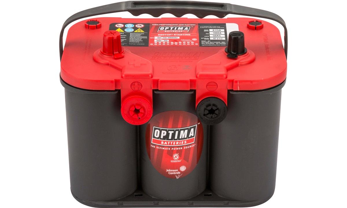Batteri Optima Rød RT U 4,2 50Ah Spiralcelle