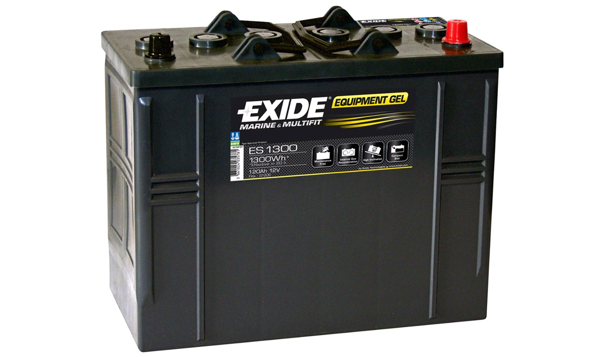 Batteri Exide 12V-120Ah ES1300 EQUIPMENT GEL