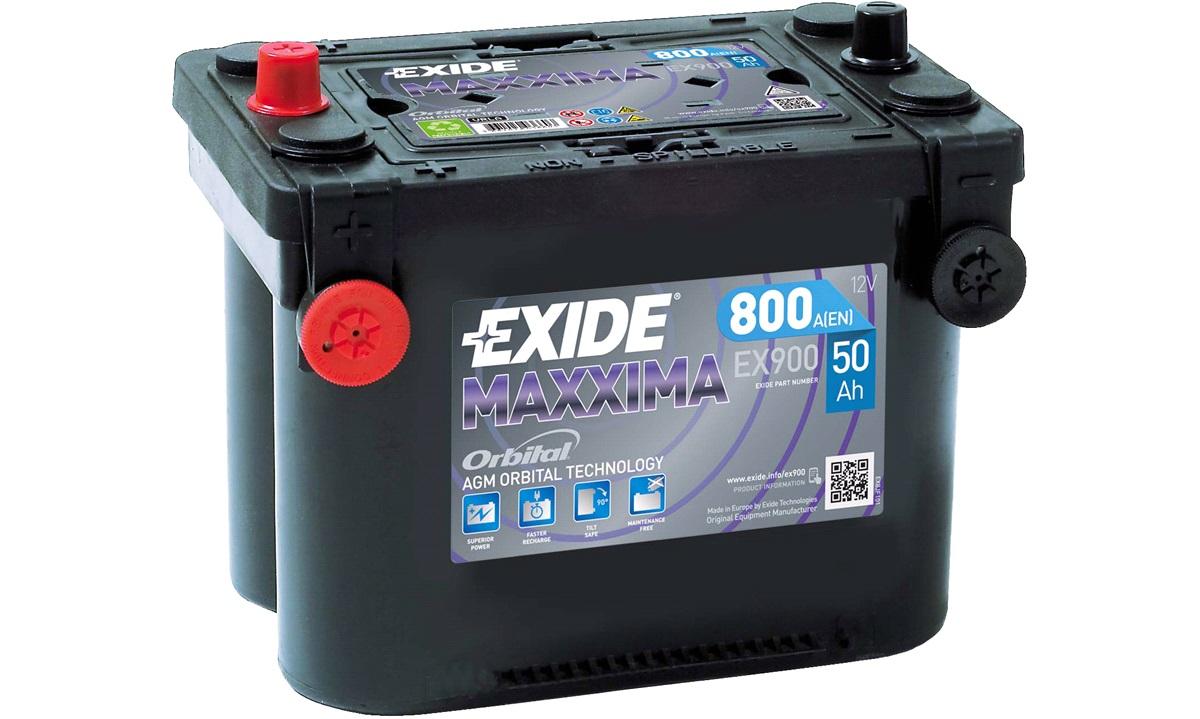 Batteri Exide 12V-50Ah EX900 AGM MAXXIMA Startbatteri