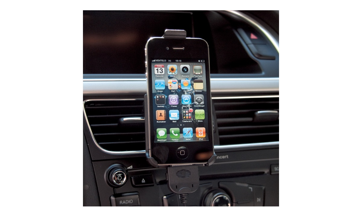 iPhone4 holder m/lader