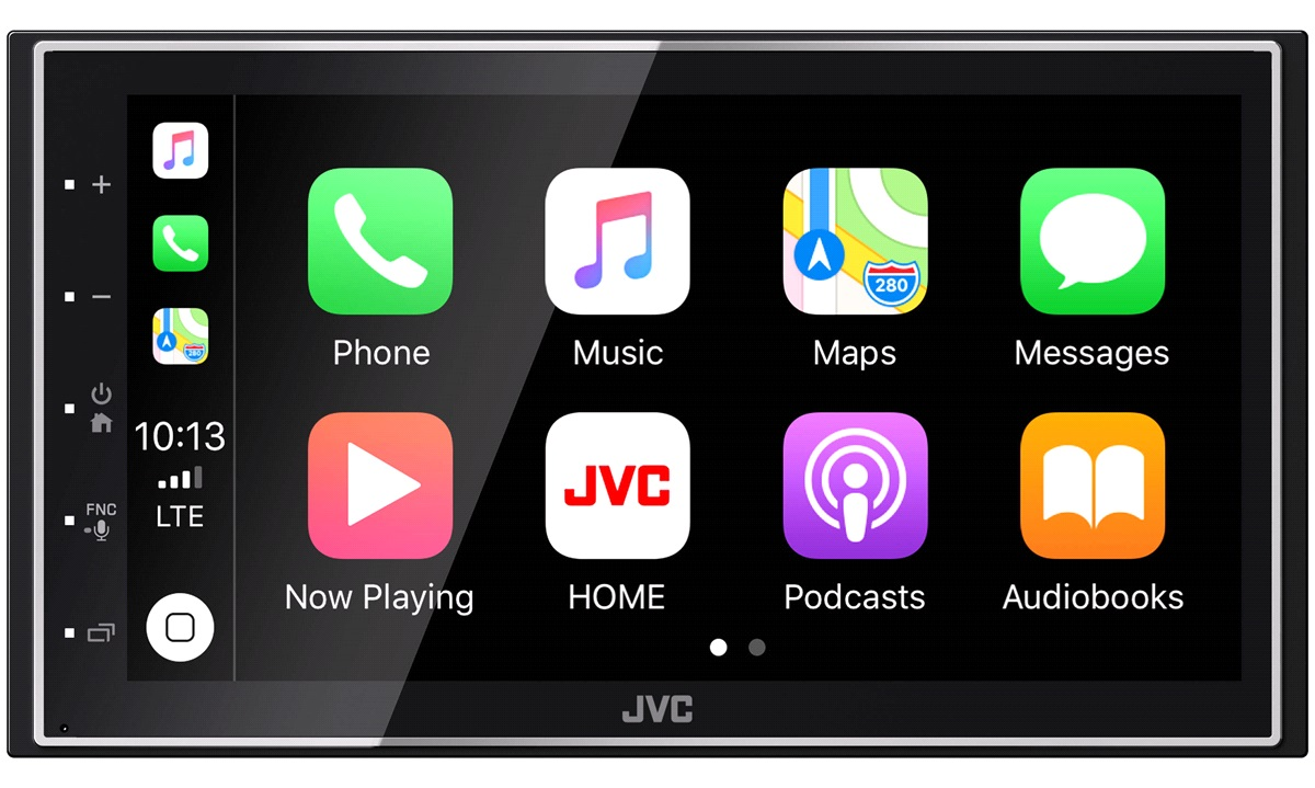 JVC KW-M741BT Apple Carplay, Spotify, Mirroring, Short Body