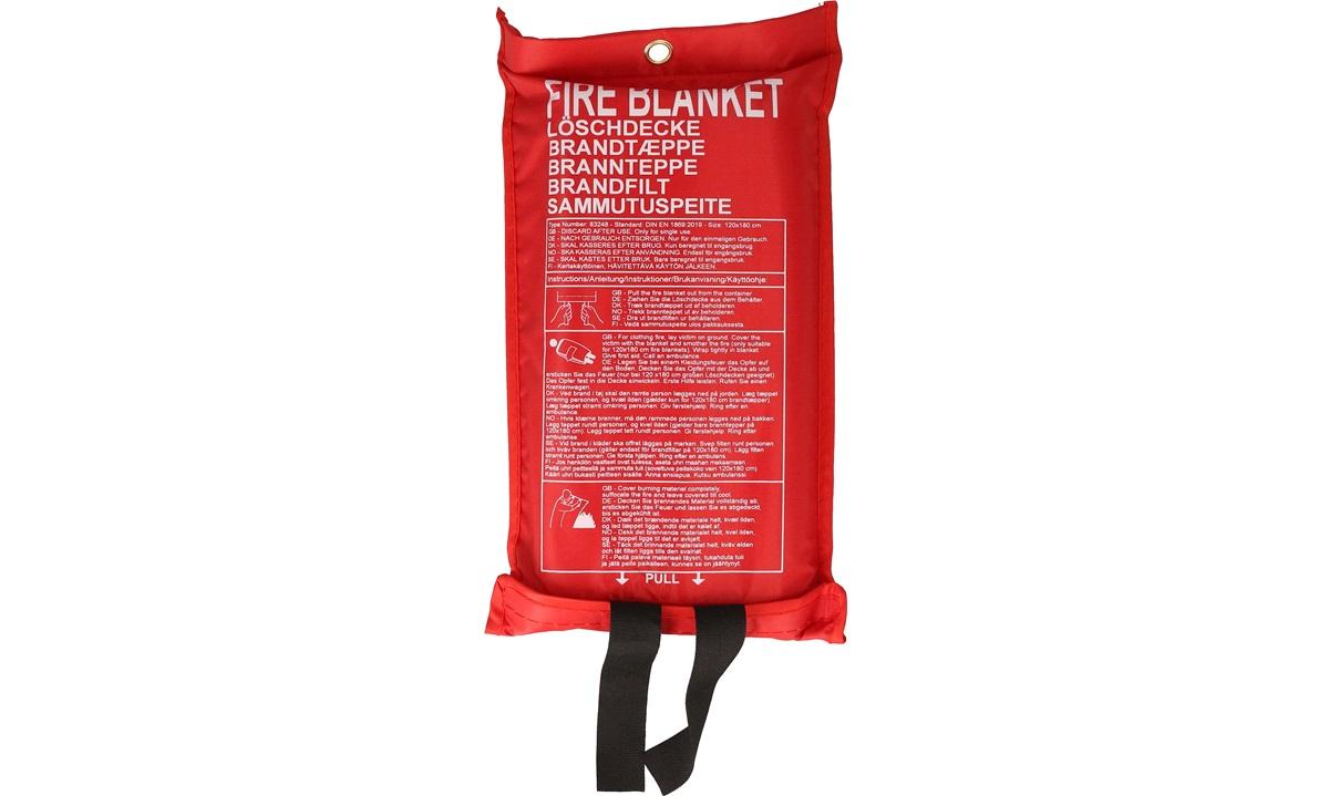 Brannteppe 1,2x1,8 m i opbevaringspose