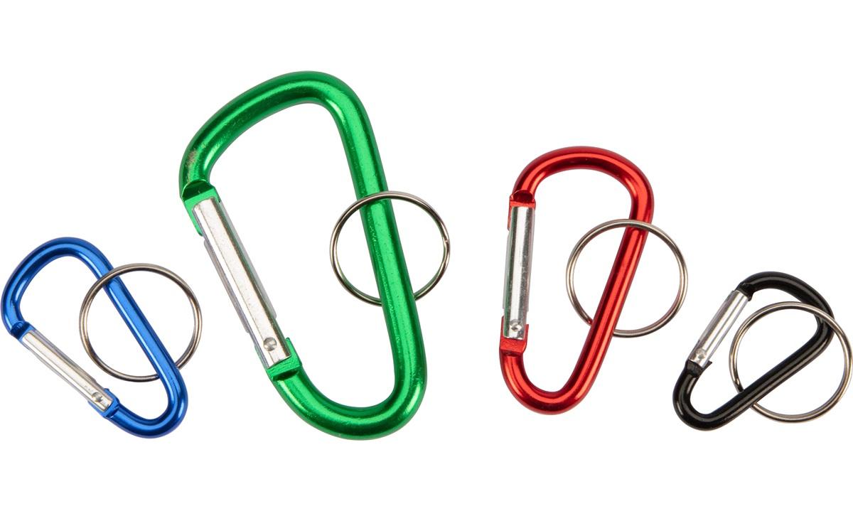 4 karabinkroker i forskellig str & farge