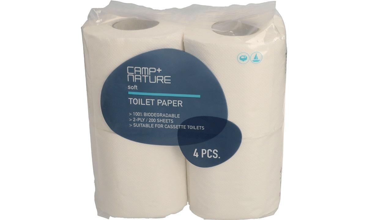 Toiletpapir Soft, 2-lags papir, 4 rl/pk.