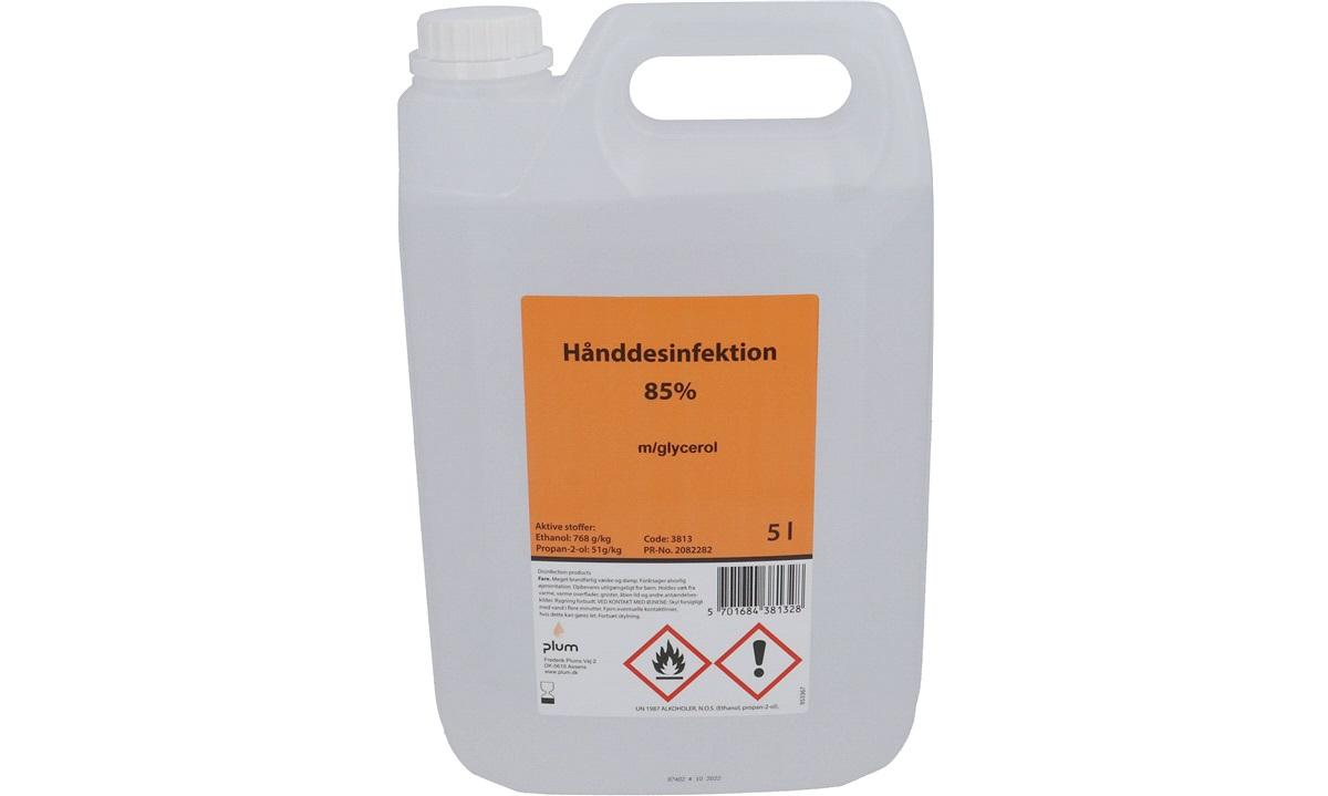 Plum hånddesinfektion PT 01 85% 5 liter