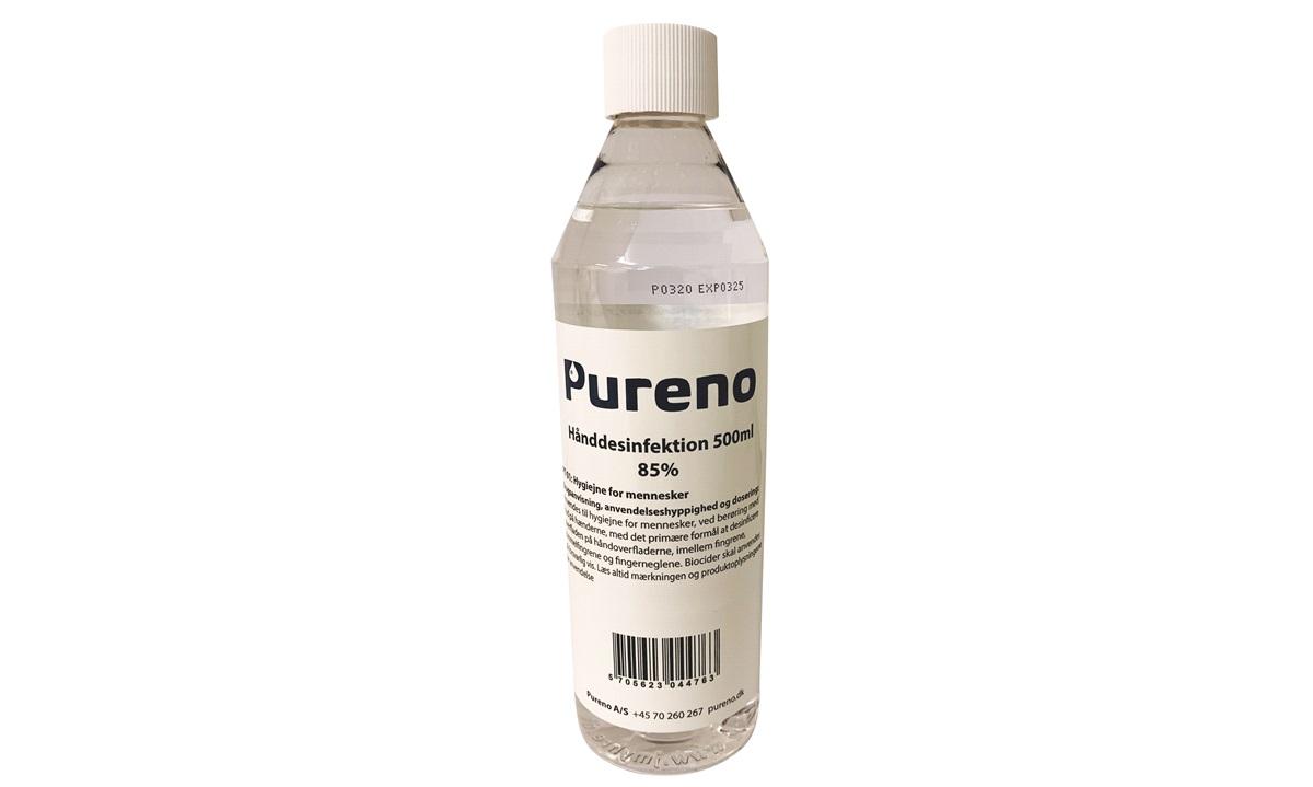 Håndsprit 85% 500ml fliplåg Pureno