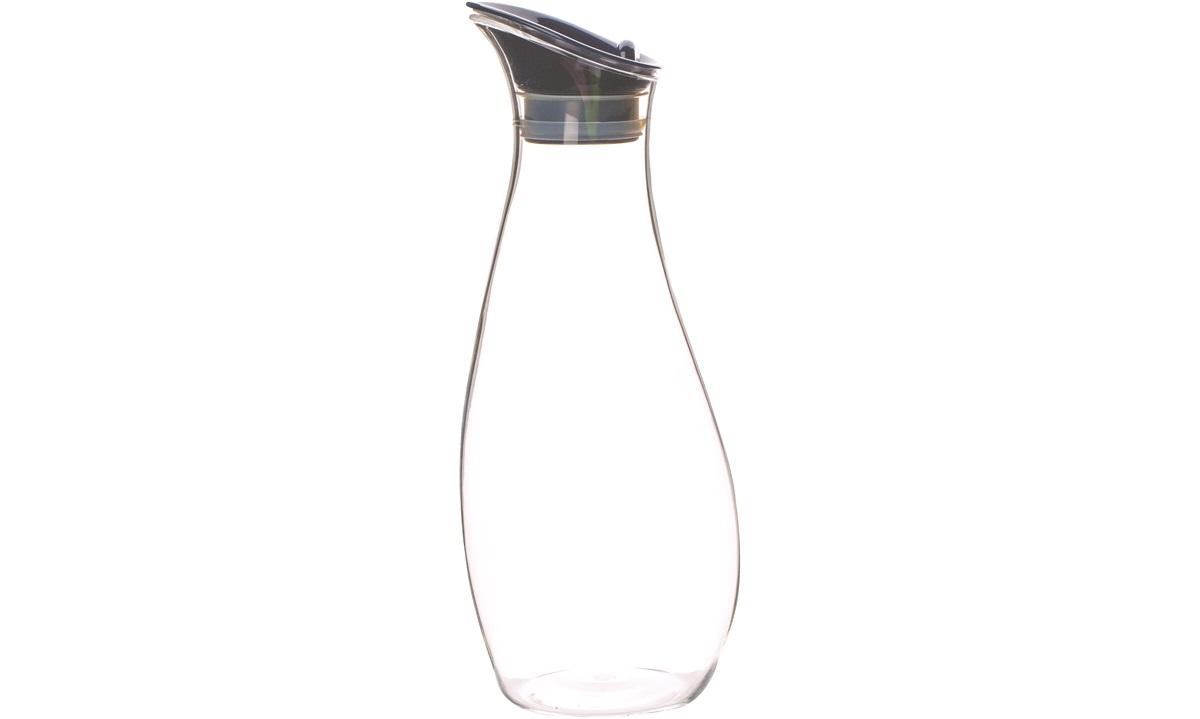 Karaffel klar plast m. lokk, 1 l. GIMEX
