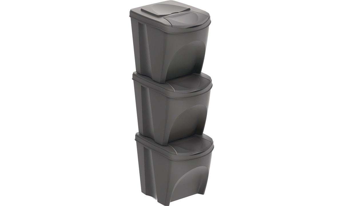 Sorteringsbokse til affaldssortering eller opbevaring 3x25l.