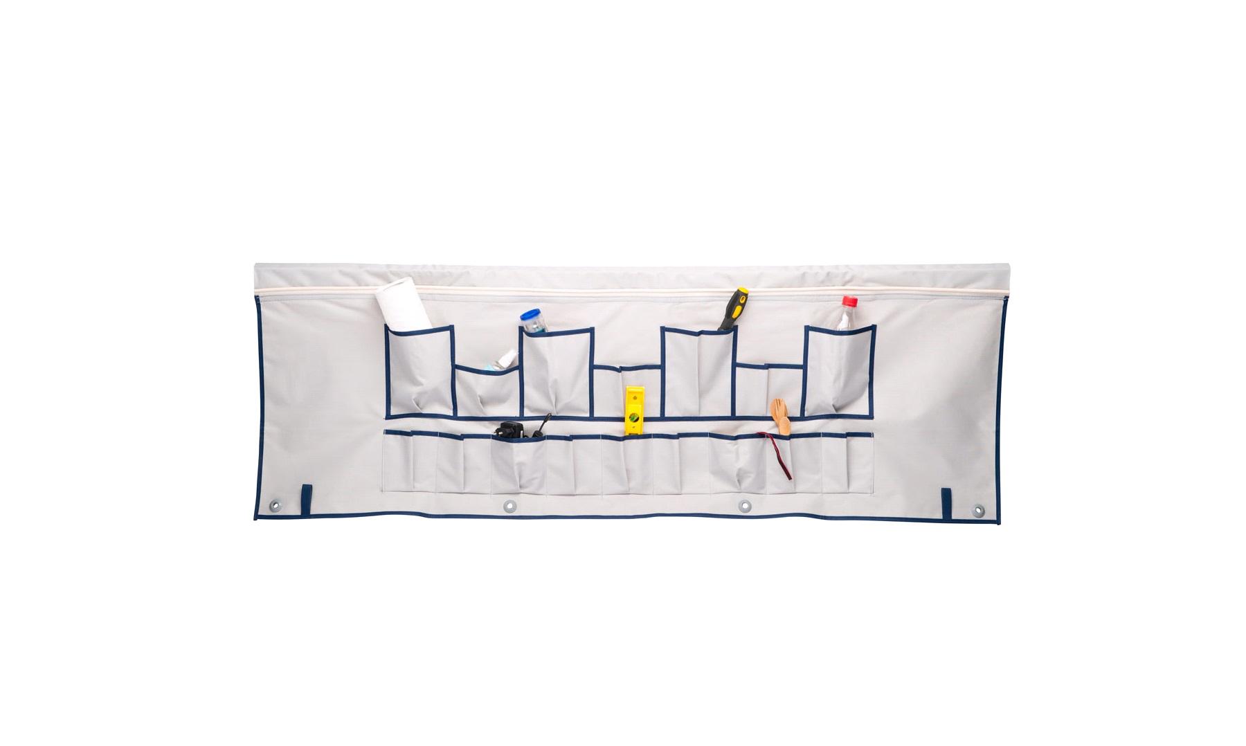 Knagerække til montering i teltskinne Knagerække til