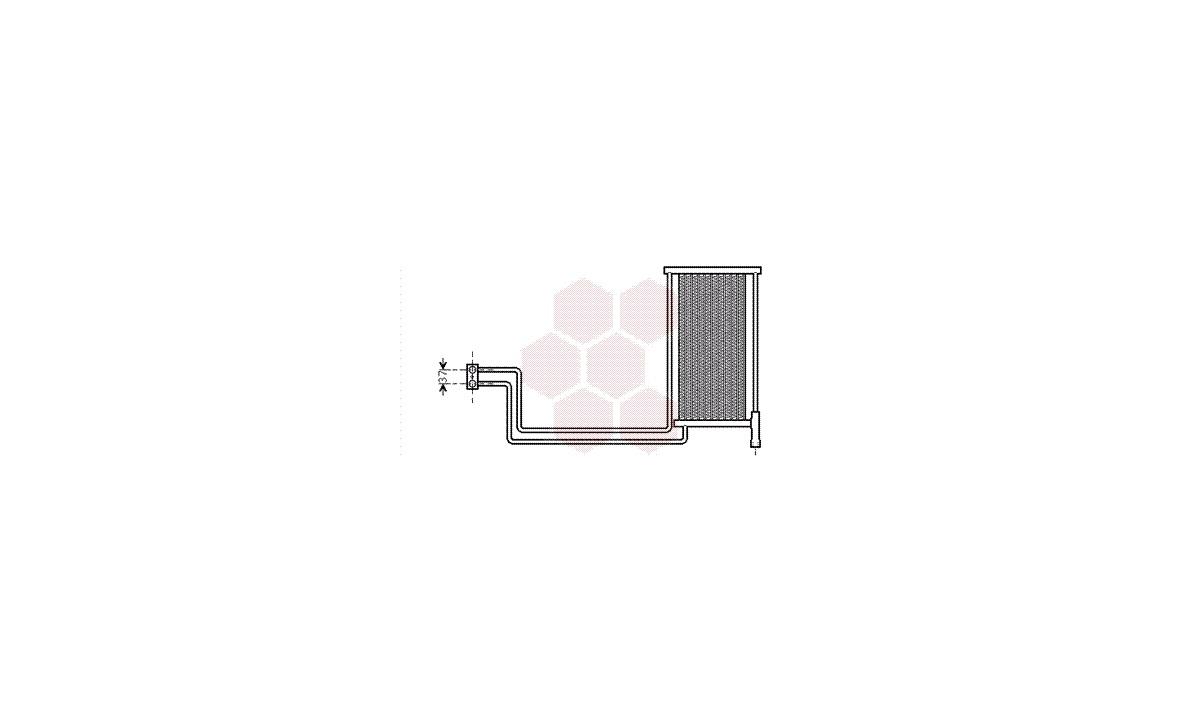 Oliekøler, motor - (VAN WEZEL)