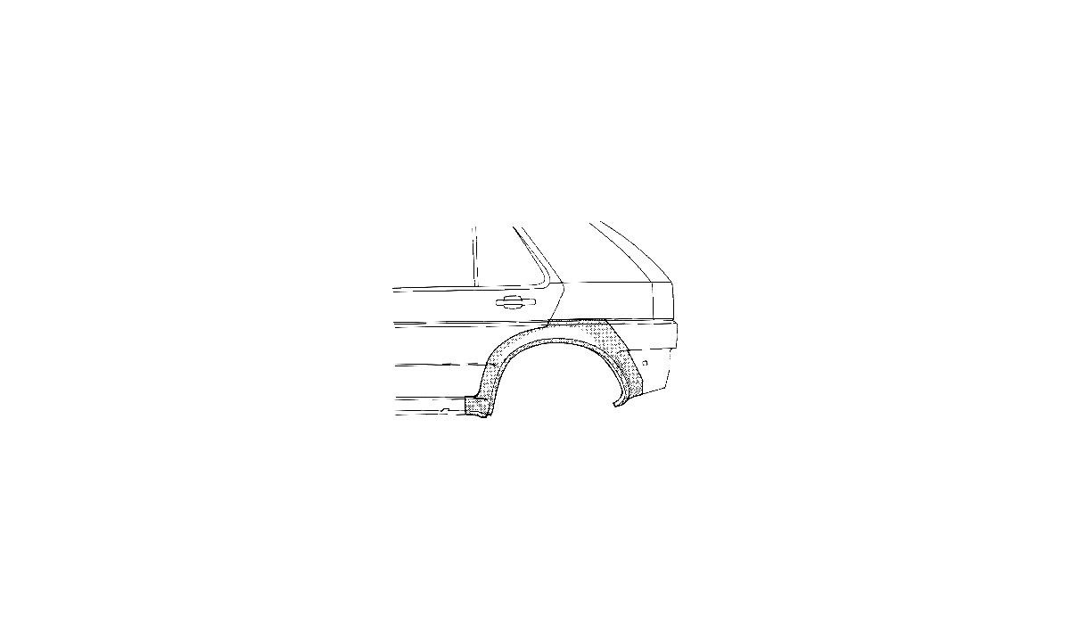 Bagskærm / Karrosseriside - (VAN WEZEL)
