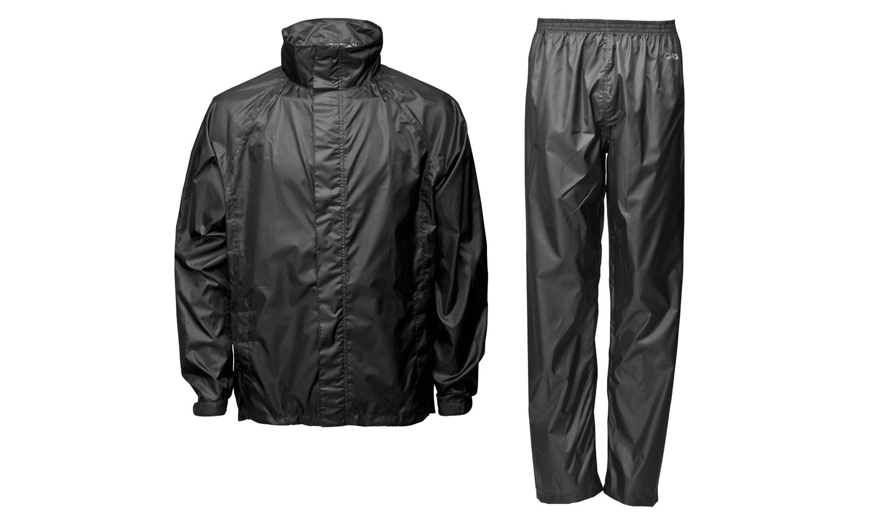 Regndragt med for, sort, large Regntøj til Motorcykel