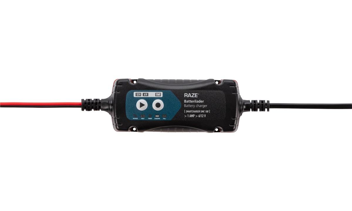 Batterilader 6/12V 1A RAZE DUAL100