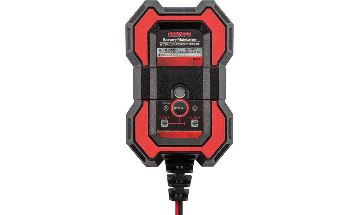 Batterilader 6/12 V 0.75AMP Raze SMC075