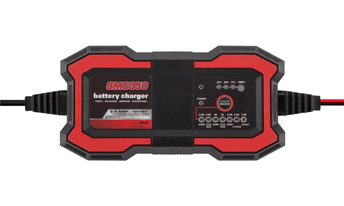 Batterilader 6/12V 1.0/3.5A RAZE SMC350