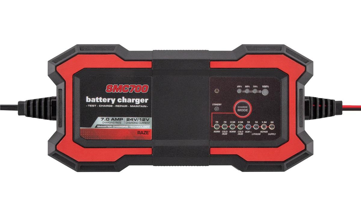 Batterilader 12/24V 3.5/7.0A RAZE SMC700
