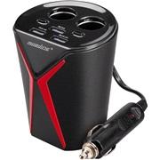 2-i-1 adapter 12V 10A 3xUSB t. kopholder