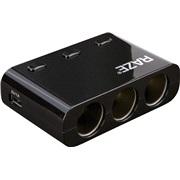 3-i-1 adapter 12V/10A med 2 x USB uttak