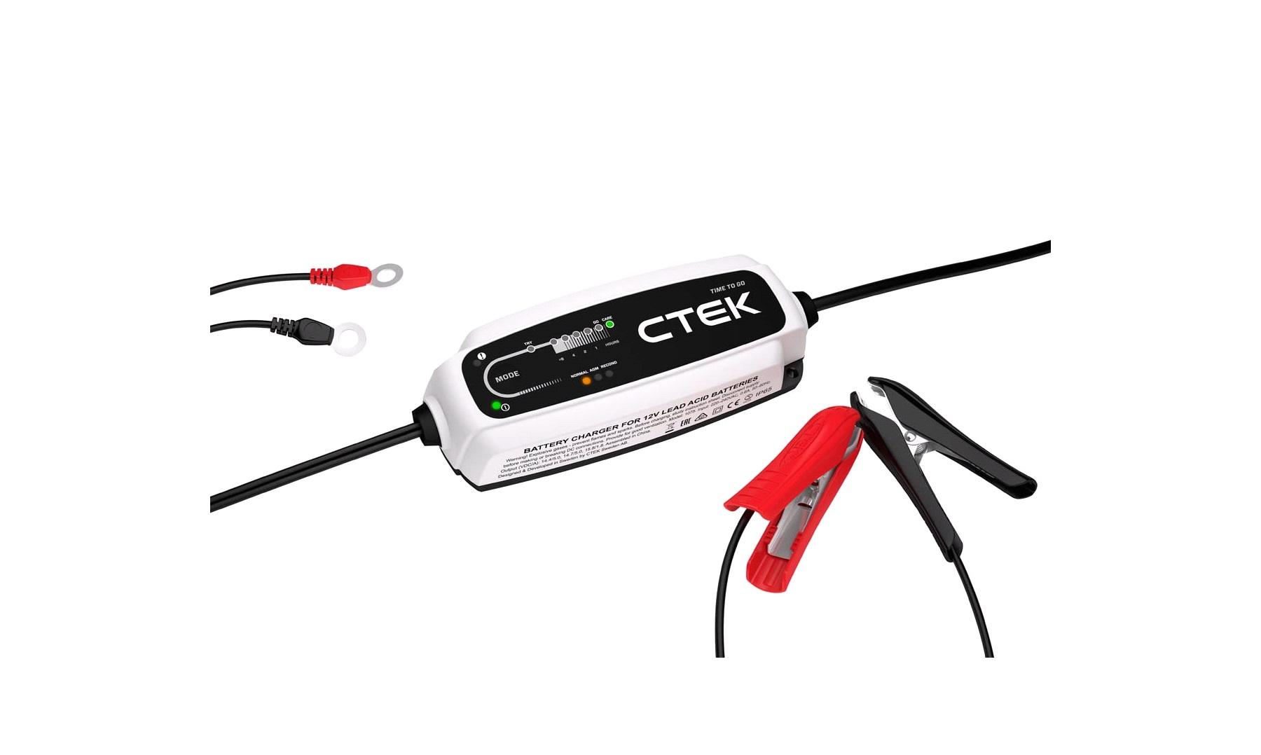 Batterilader CTEK CT5 TIME TO GO Batteriladere thansen.no