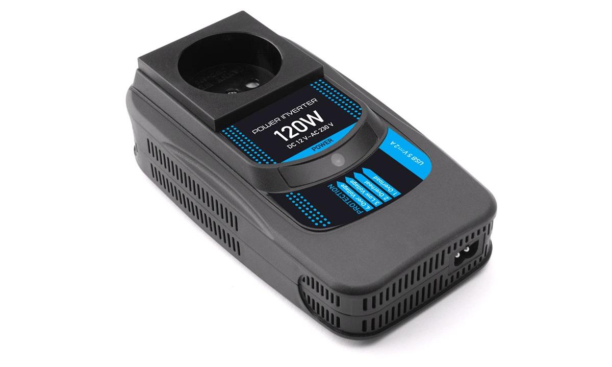 Omformer 12-230V 120W+USB MOBILI. PI-120