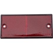 Refleks rød 106x50mm selvklæbende m/hul