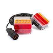 Trailerlygtesæt LED med kabel 7-pins