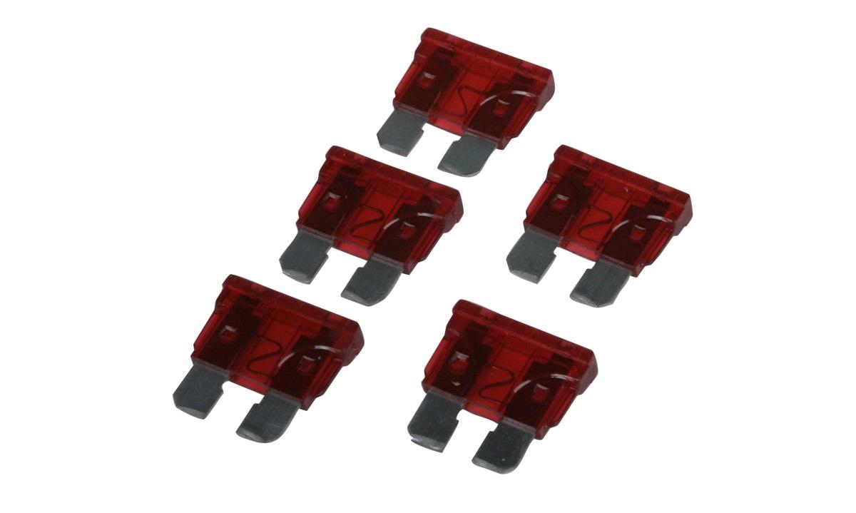 Fladsikringer 10A - 5 stk.
