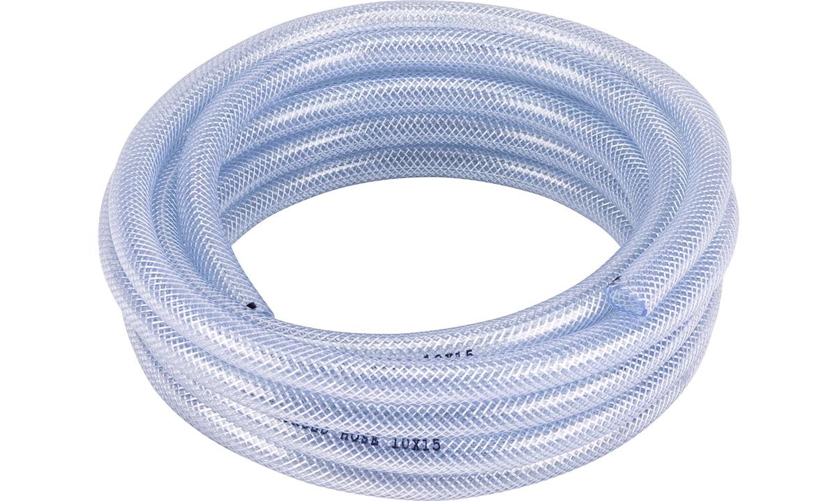 Klar pvc kryssvevd slange  10mm, 5m