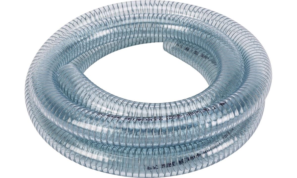 Klar slange m/stålspiral 28mm, rulle 3m