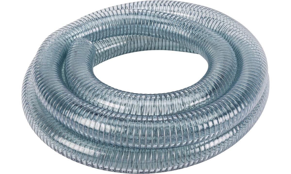 Klar slange m/stålspiral 32mm, rulle 3m
