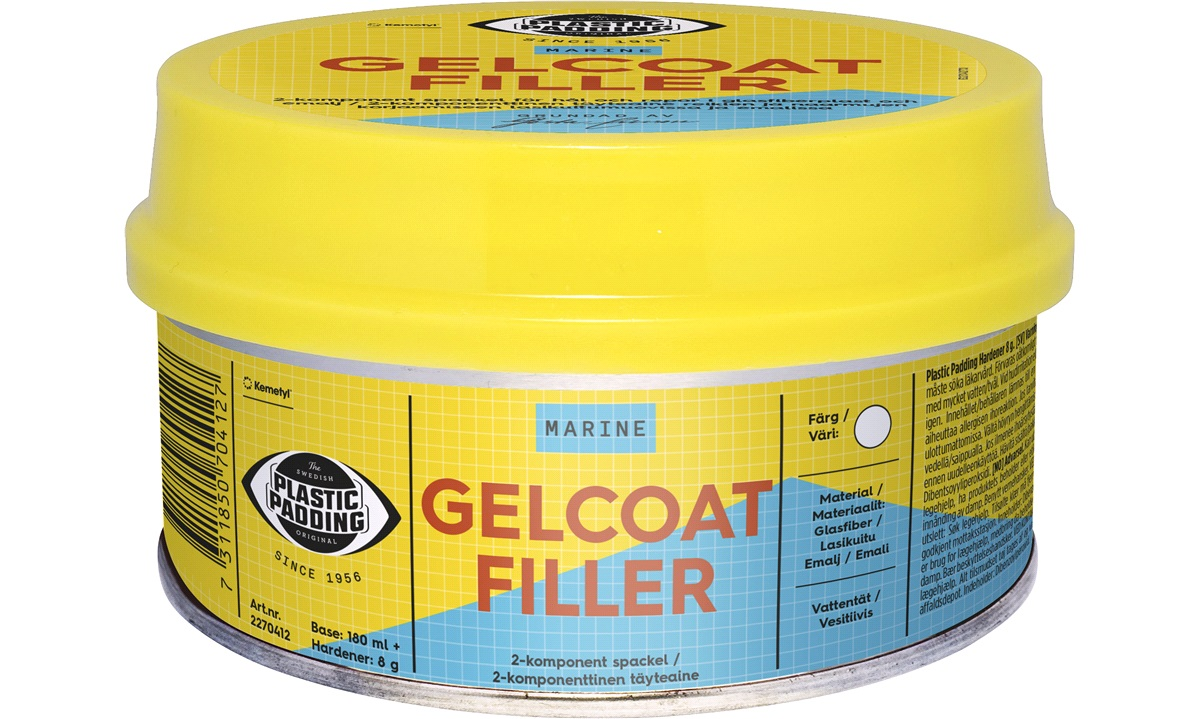 Gelcoat Filler, 180ml. Plastic Padding,
