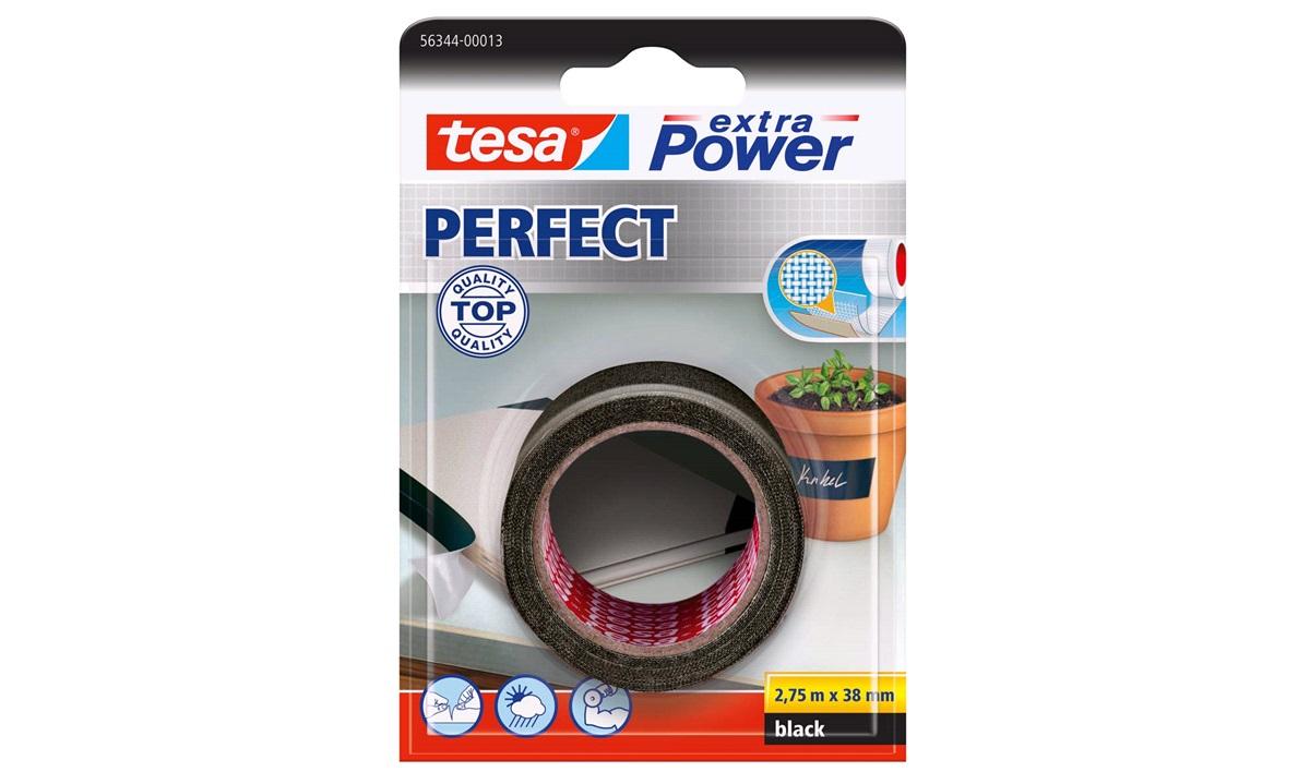 TESA Lærredstape, Extra Power Perfect, 38mm x 2,75mtr., sort