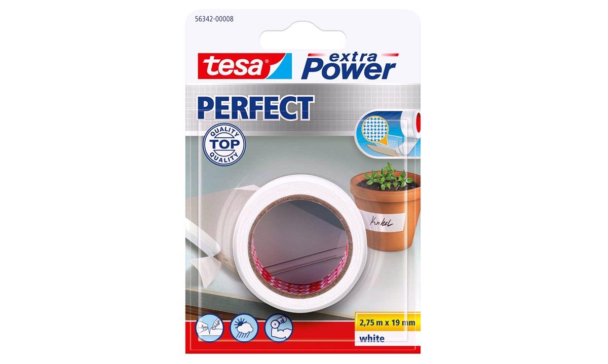 TESA Lærredstape, Ex Power hvid 19x2,75