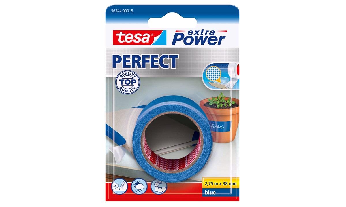 TESA Lærredstape, Extra Power Perfect, 38mm x 2,75mtr., blå