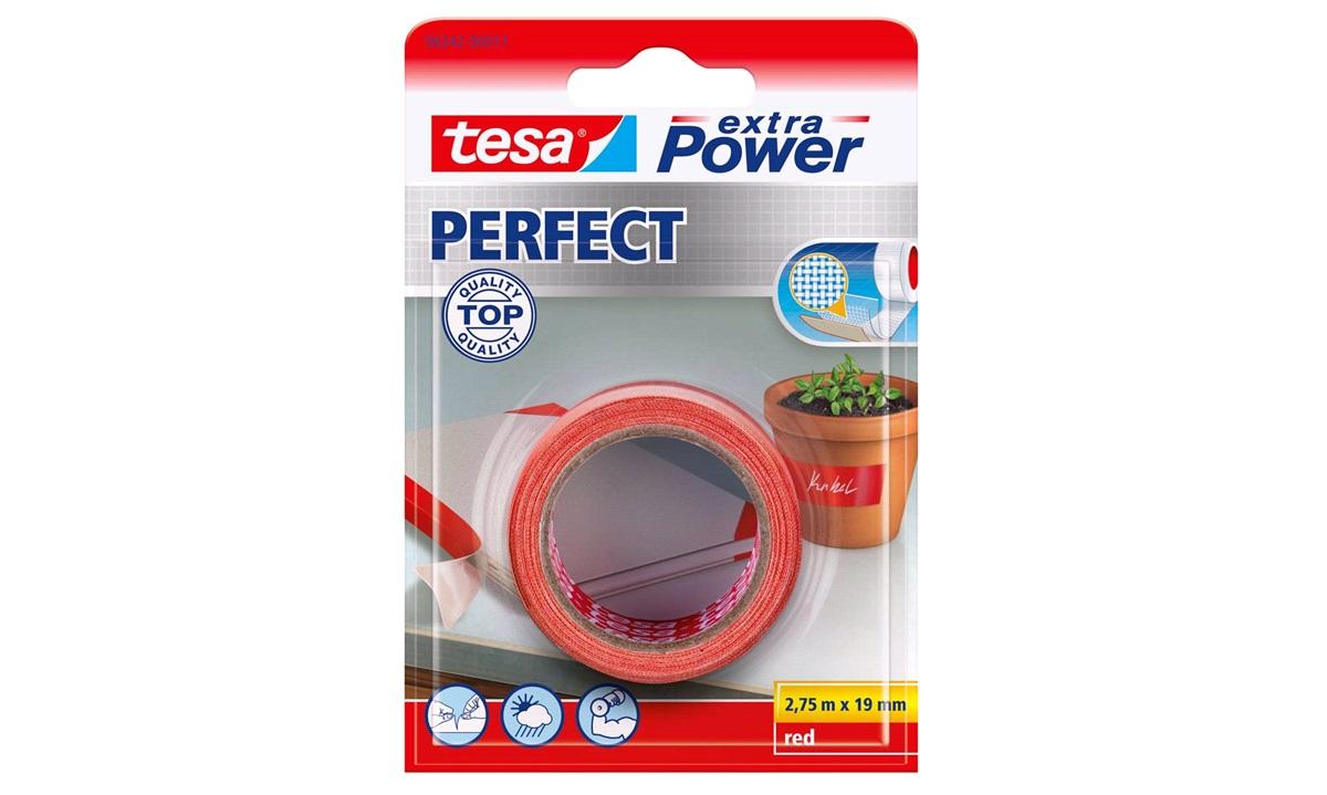 TESA Lærredstape, Extra Power Perfect, 19mm 2,75mtr., rød